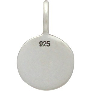 Sterling Silver Yin Yang Charm 13x8mm