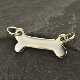 Sterling Silver Dog Bone Stamping Blank Charm Link 11x17mm