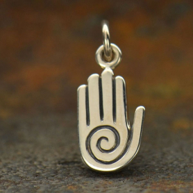 Sterling Silver Healing Hand Charm