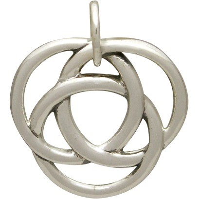 Sterling Silver Infinite Circles Love Knot Charm 17x16mm