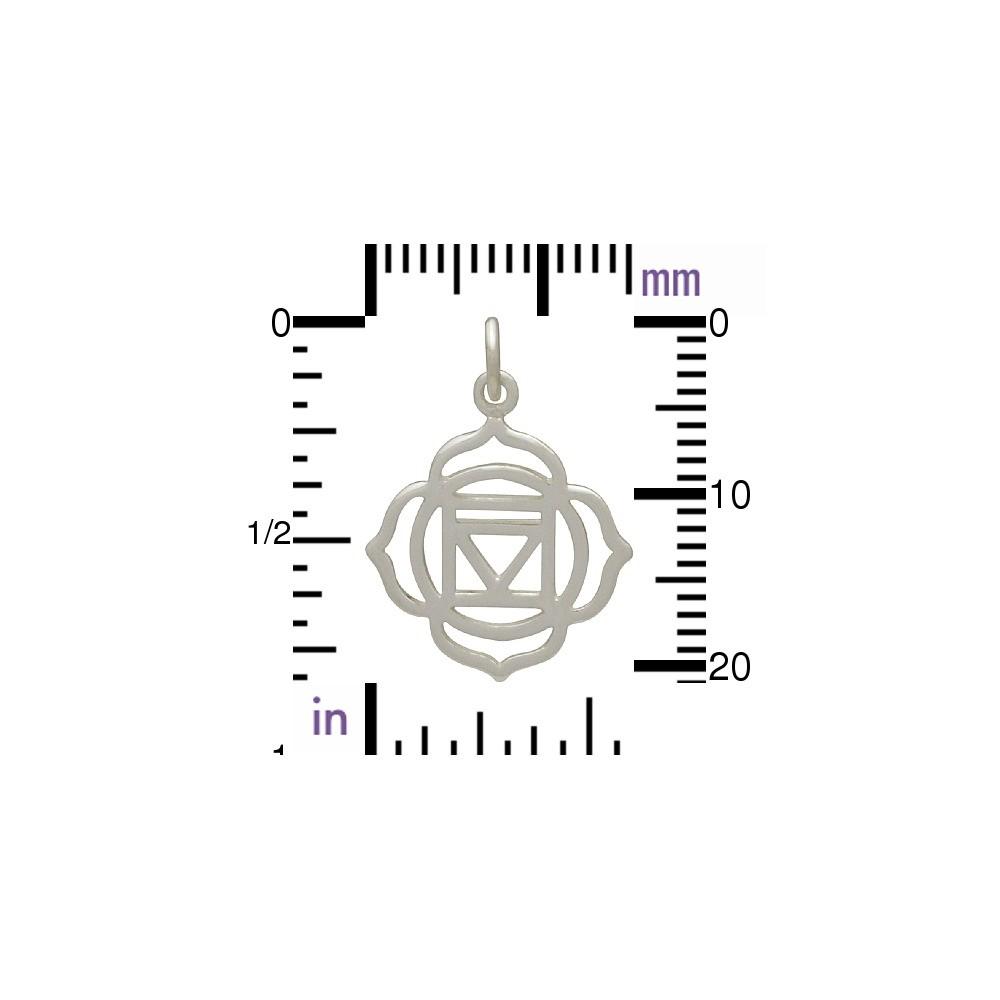 Sterling Silver Root Chakra Charm - Yoga Charm
