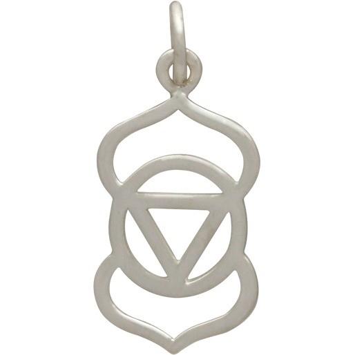 Sterling Silver Third Eye Chakra Charm - Yoga Charm
