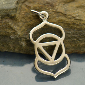 Sterling Silver Third Eye Chakra Charm - Yoga Charm