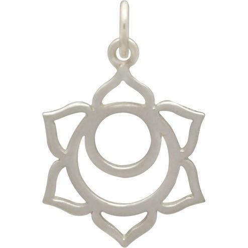 Sterling Silver Sacral Chakra Charm - Yoga Charm