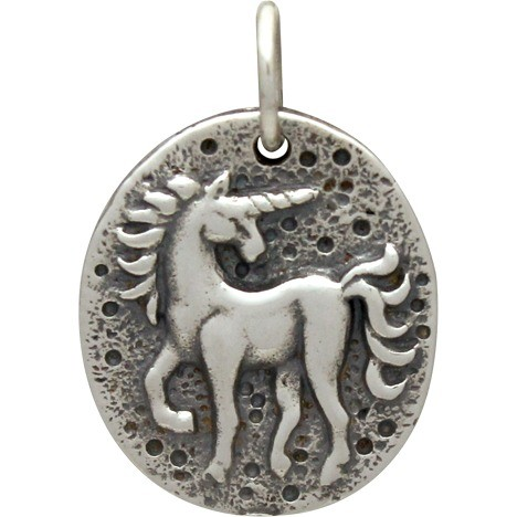Sterling Silver Ancient Coin Charm - Unicorn