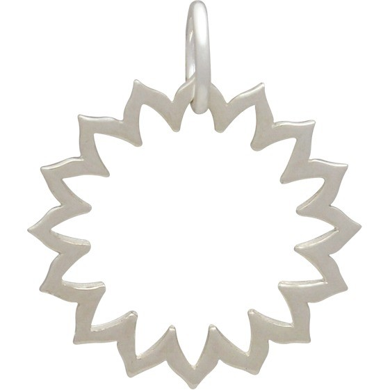 Silver Yoga Charm - Throat Chakra - Frame DISCONTINUED