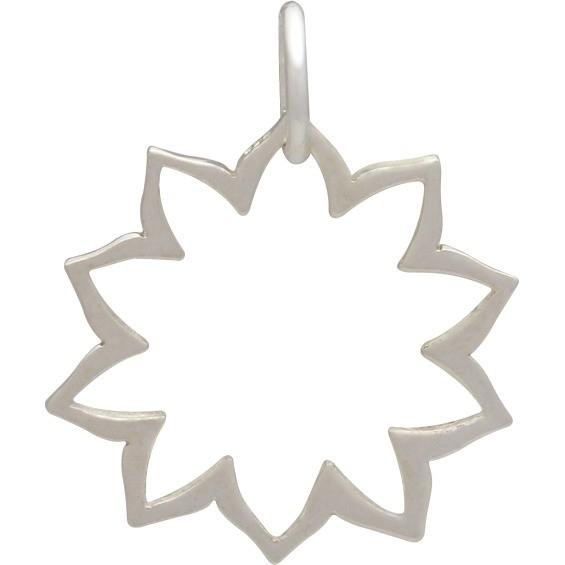 Silver Yoga Charm -Solar Plexus Chakra -Frame DISCONTINUED