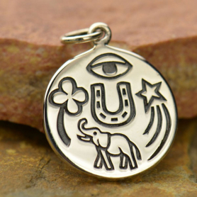Sterling Silver Lucky Amulet Charm