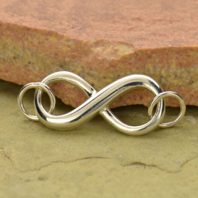 Jewelry Supplies - Dimensional Infinity Pendant Silver Links