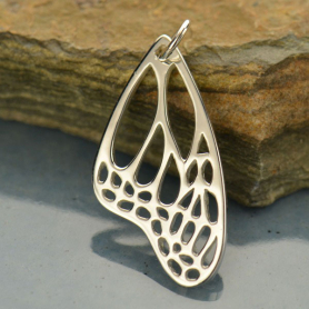 Sterling Silver Wing Pendant - Monarch Butterfly