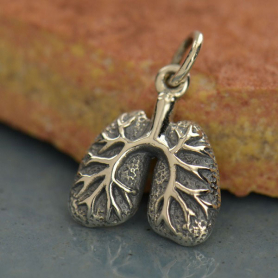 Sterling Silver Lungs Charm