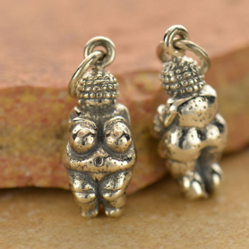 Sterling Silver Venus of Willendorf Charm