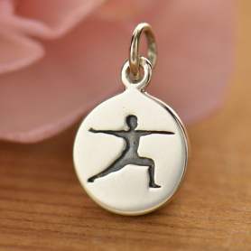 Sterling Silver Yoga Charm - Warrior Pose