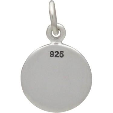 Sterling Silver Yoga Charm - Tree Pose 16x10mm