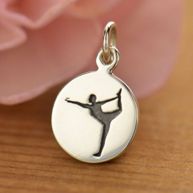 Sterling Silver Yoga Charm - Dancer Pose