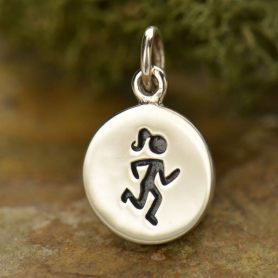 Sterling Silver Runner Charm - Sports Charms