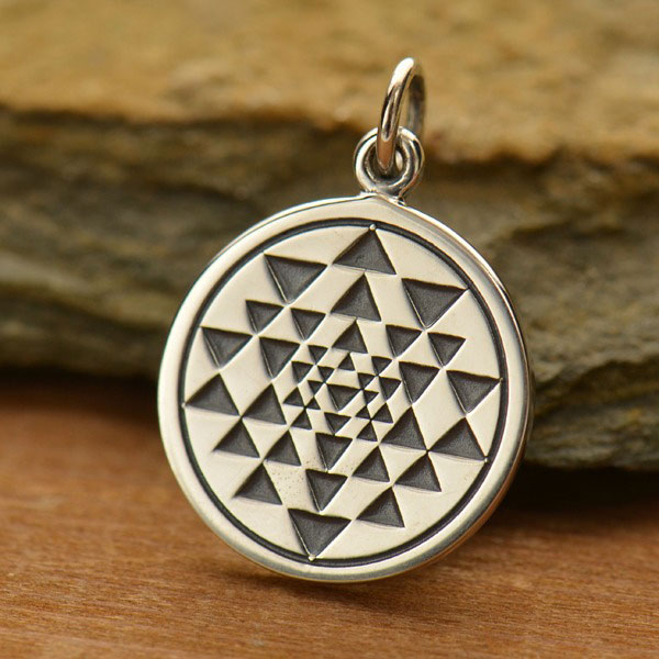 Sri yantra Brass Charms for macrame and jewelry making SC115