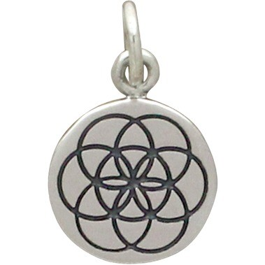 Sterling Silver Seed of Life Charm - Sacred Geometry
