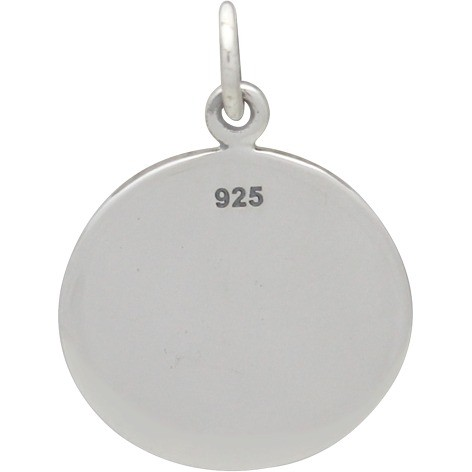 Sterling Silver Word Charm - Reach For the Stars 20x15mm