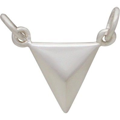 Small Triangle Pendant Silver Links DISCONTINUED