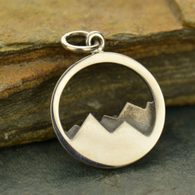 Sterling Silver Mountain Charm - Openwork