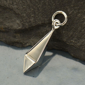 Sterling Silver Spike Charm - Inverted - Large DISCONTINUED