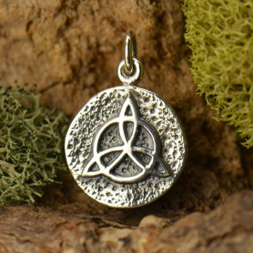 Sterling Silver Amulet Charm - Protection 18x12mm