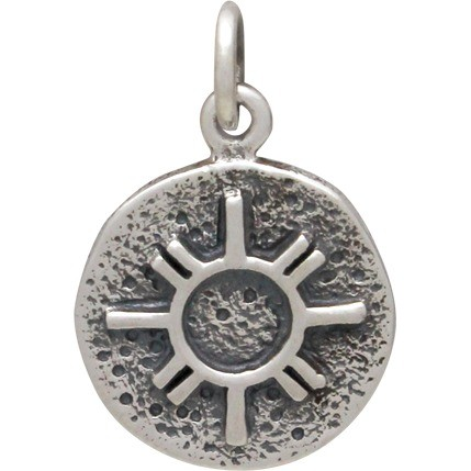 Sterling Silver Amulet Charm - Zia Sun
