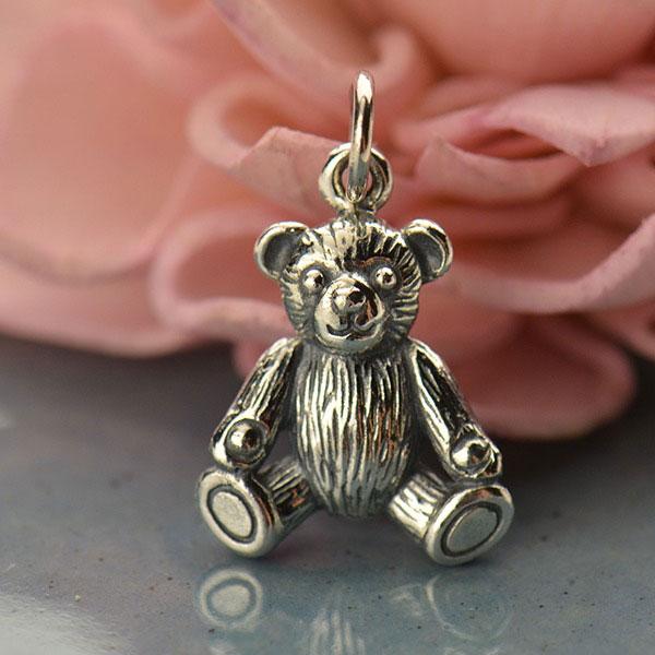 Mama Bear Sterling Silver Bear Silver Teddy Bear Charm New Mom Charm Kawaii Charm Gummy Bear Animal Charm Little Girl Charm Jewelry