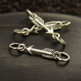 Sterling Silver Arrow Charm Link -22mm DISCONTINUED