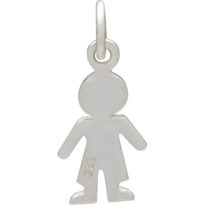 Sterling Silver Boy Charm - Family Charms 18x7mm