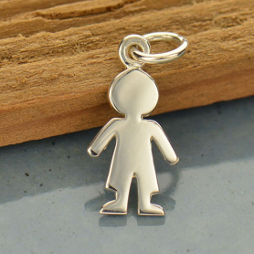 Sterling Silver Boy Charm - Family Charms