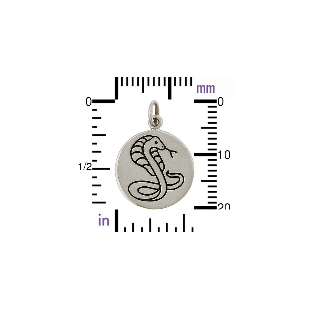 Sterling Silver Cobra Charm - Spirit Animal DISCONTINUED