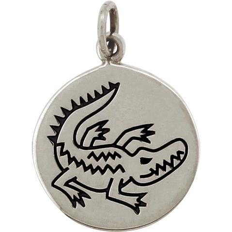 Sterling Silver Crocodile Charm - Spirit Animal DISCONTINUED