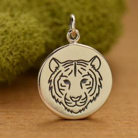 Sterling Silver Tiger Charm - Spirit Animal
