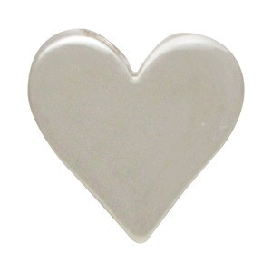 Sterling Silver Beads - Large Heart 10x10mm