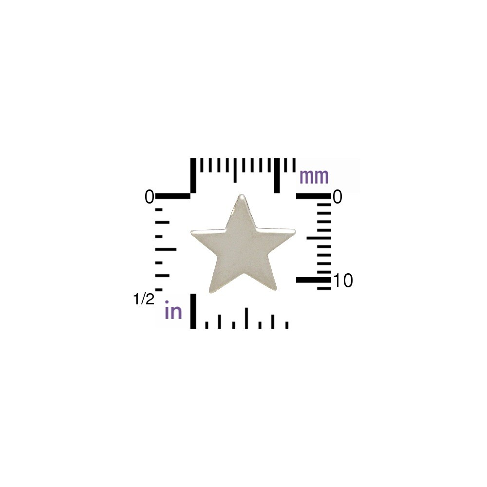 Sterling Silver Beads - Large Star 12x13mm