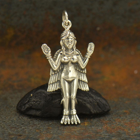Sterling Silver Innana Goddess Charm 33x15mm