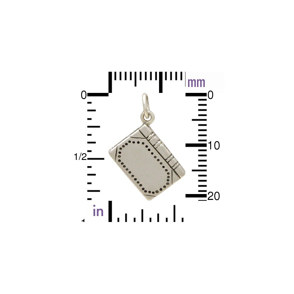 Sterling Silver Book Charm -  Realistic 22x14mm