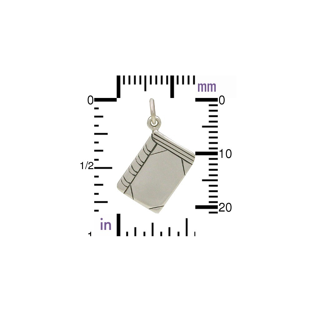 Sterling Silver Book Charm - Flat 23x16mm