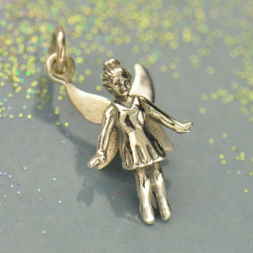 Sterling Silver Fairy Charm - Realistic DISCONTINUED