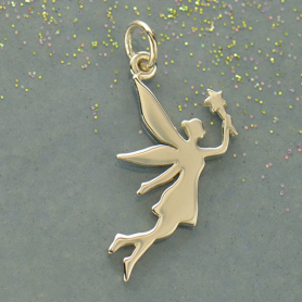 Sterling Silver Fairy Charm - Flat