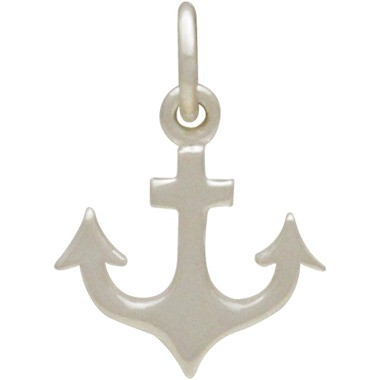 Sterling Silver Anchor Charm - Flat 17x12mm