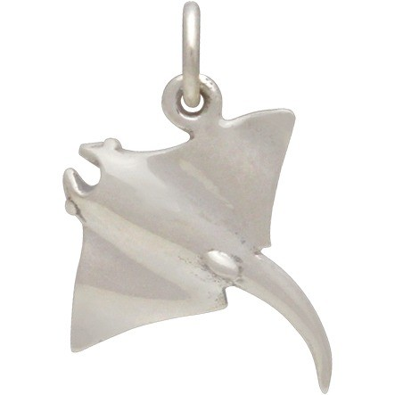 Sterling Silver Sting Ray Charm 18x15mm