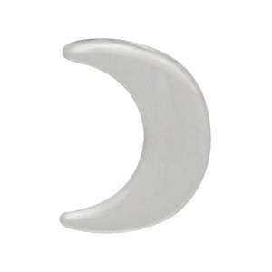 Sterling Silver Beads - Small Moon 9x7mm