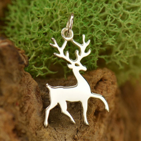 Sterling Silver Stag Charm - Animal Charms