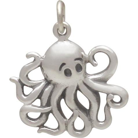 Medium Sterling Silver Octopus