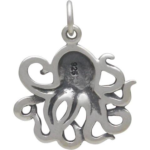 Medium Sterling Silver Octopus 21x16mm