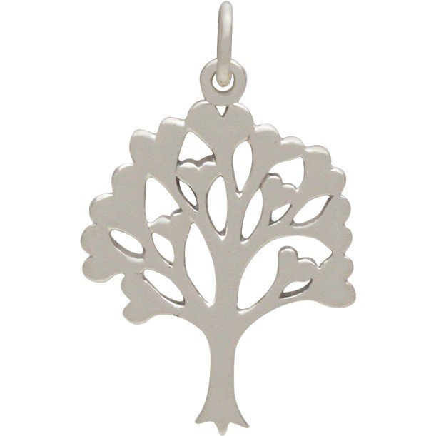 Sterling Silver Family Tree Pendant 26x16mm