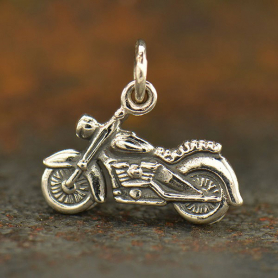 Sterling Silver Motorcycle Charm - Hobby Charms